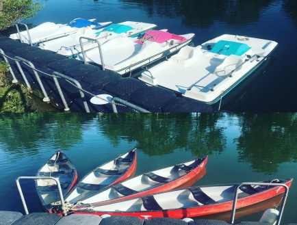 Canoe et Pedalo